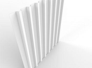 Plechová krytina na garáž v bielej farbe