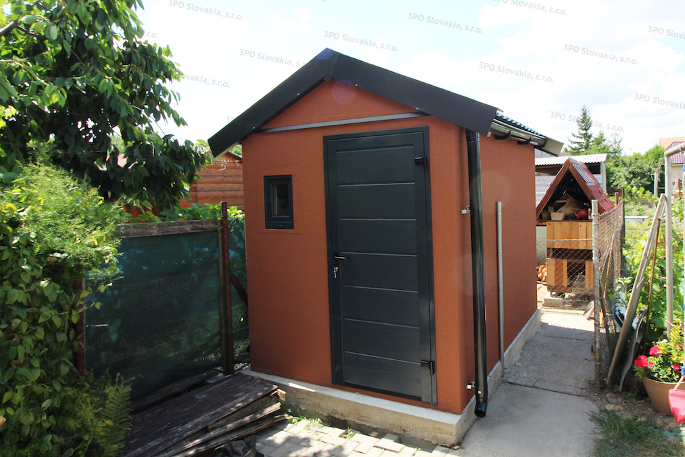 Záhradný domček GARDEON so sedlovou strechou v antracitovej farbe