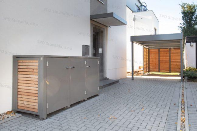 Dizajnový prístrešok SIEBAU a box na odpadkové koše