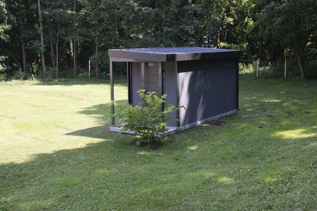 Záhradný domček GARDEON v tmavo-sivej omietke