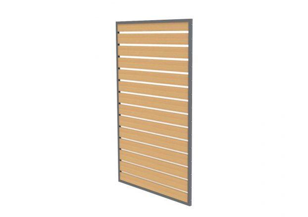 Dizajnová drevená stena do pergoly