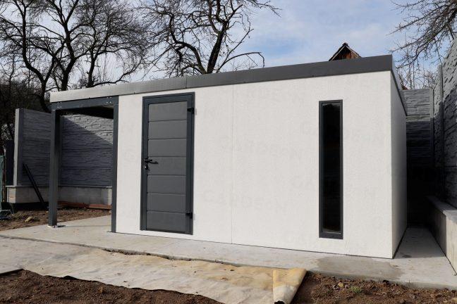 Montovaný záhradný domček GARDEON v bielej farbe
