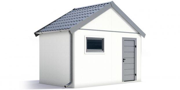 Záhradný domček so sedlovou strechou