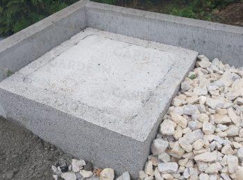 Betónová pätka v štrkovom lôžku