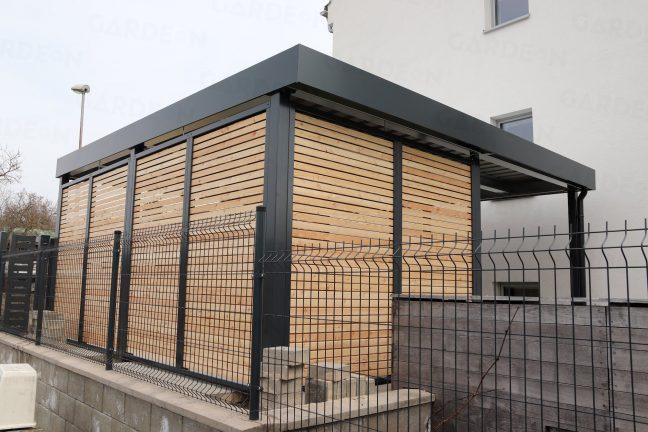 Montovaný prístrešok SIEBAU s drevenými výplňami