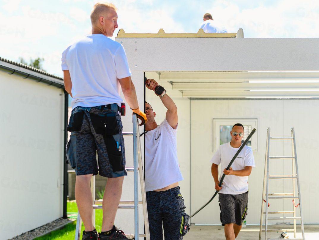 Montáž garáže GARDEON