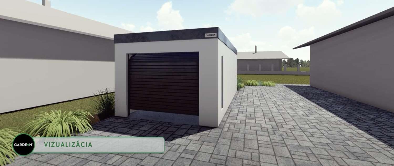 Vizualizácia garáže pre jedno auto v Sučanoch