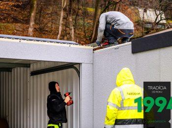 Montáž a vŕtanie radovej garáže