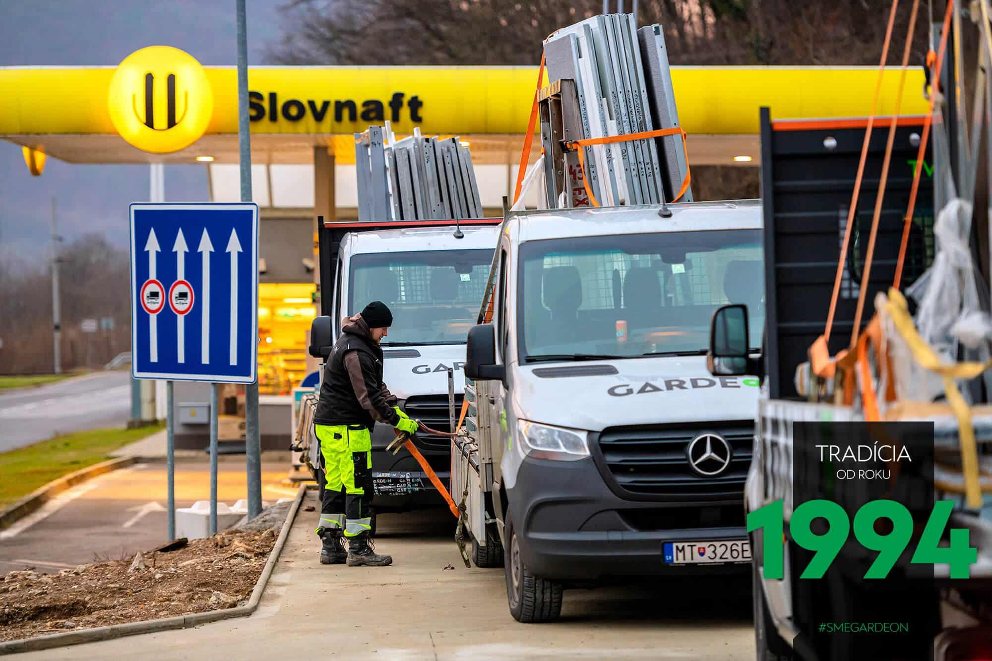 Dodávky GARDEON pri Slovnafte