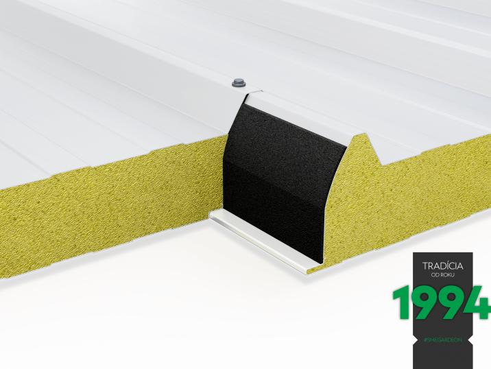 Detail izolovanej strechy