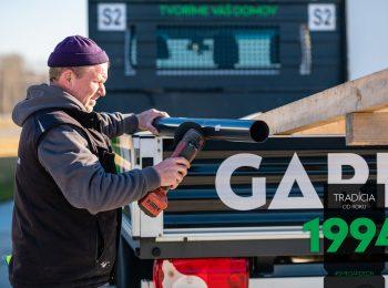 Časti stavby uložené v dodávke GARDEON