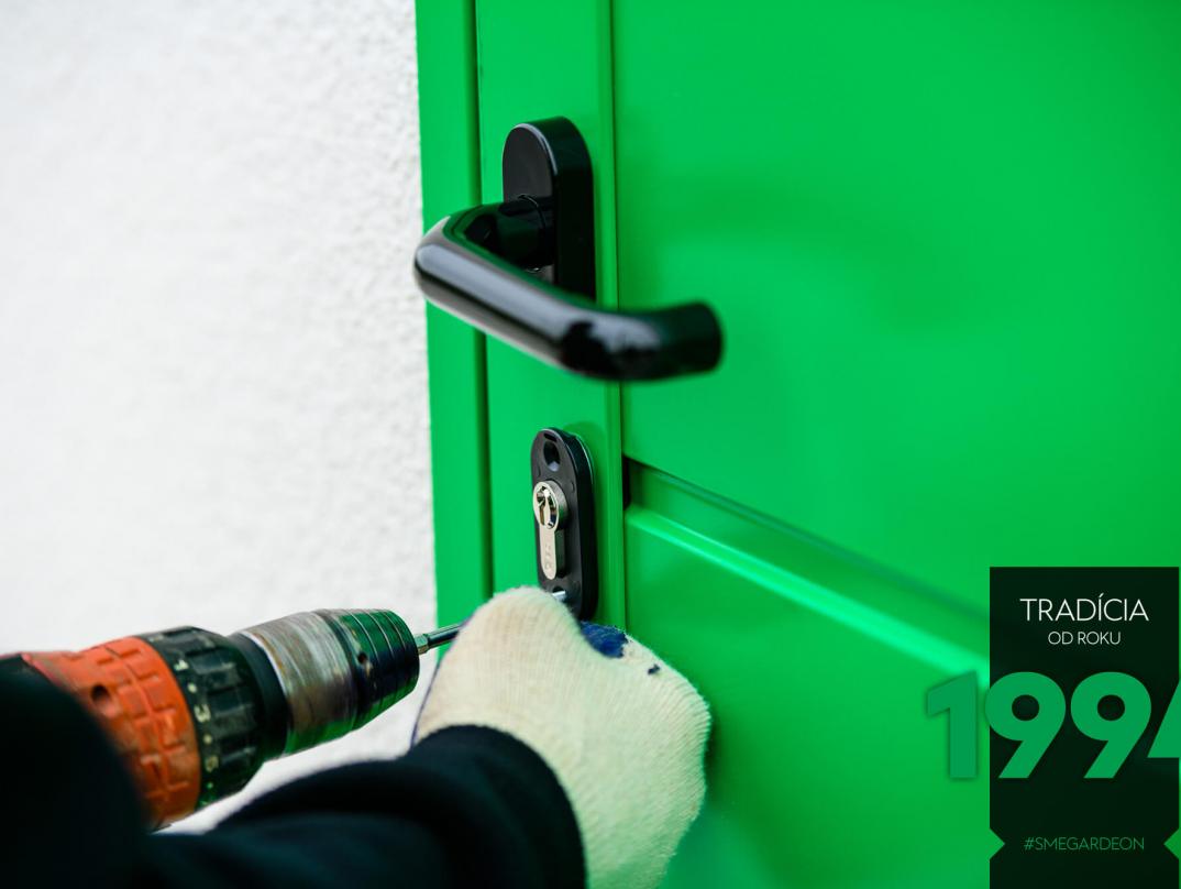 Vrtání zámky zelených dveří GARDEON